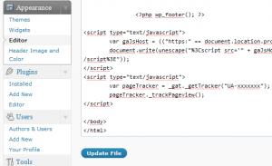 footer.php skärmdump